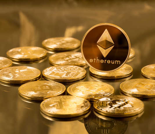 Single Ethereum coin on top of Bitcoins
